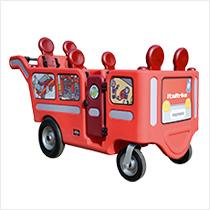 Wehrfritz-Krippenbus im Feuerwehr-Design mit Motor