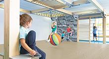 """Bewegungscenter """"timber"""" - Einsatz in Krippe & Kindergarten"""