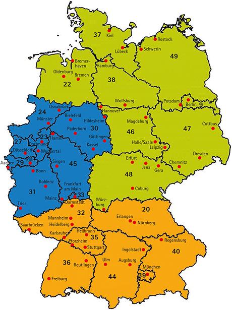 Wehrfritz-Gebiete Deutschland