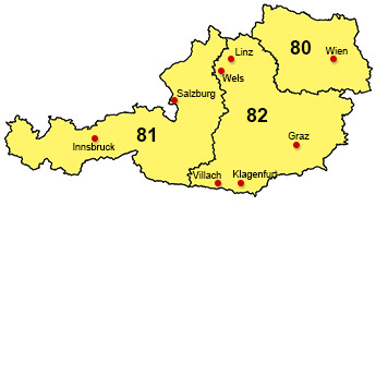 Wehrfritz-Gebiete Österreich