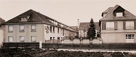 1938: Werksgebäude mit Wohnhaus der Familie Habermaaß