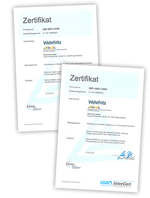 Qualitäts- und Umweltmanagement-Zertifikate