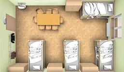 Ausstattung von Übergangswohnheimen