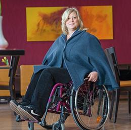 Poncho für Rollstuhlfahrer