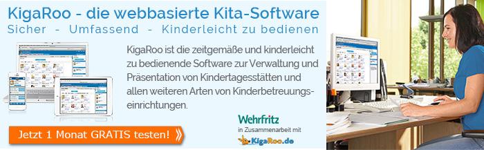 KigaRoo - die webbasierte Kita-Software für Träger, Kindergarten und Tagespflege