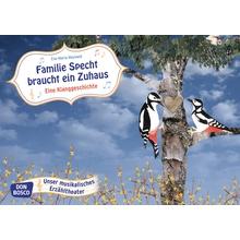 """Bildkarten """"Familie Specht braucht ein Zuhause"""""""