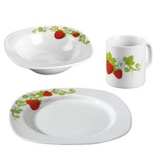 Erdbeer-Geschirr-Sparset