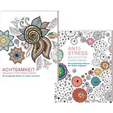 Malbuch-Set: Achtsamkeit und Anti-Stress