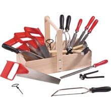 Werkzeugset in Holzwerkkiste