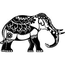 Silhouetten-Schablone Elefant