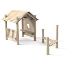 """Spielhaus """"Nikki"""", Variante 3, natur"""