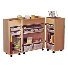 Klappschrank, 3-teilig, mit integrierter Sortierbox