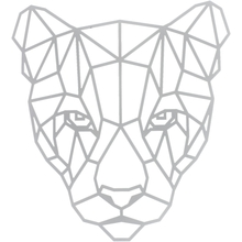 "Schablone ""Panther, polygon"""