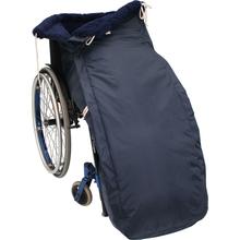 Schlupfsack mit Webpelz für Rollstühle