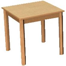 Quadrattisch 60 x 60 cm