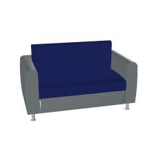 Sofa mit Rücken- und Sitzkissen