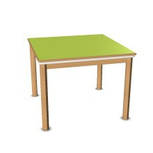 Tisch mit Wanneneinsatz und Deckel