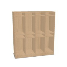 Taschenregal für Materialboxen
