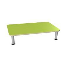 Sicherheitstisch mit Einzeltischbeinen, Metall