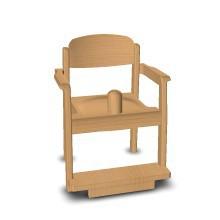 """Armlehnenstuhl """"Favorit"""" mit Sitzknopf"""